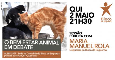 """Cartaz do evento """"O bem-estar animal em debate"""""""
